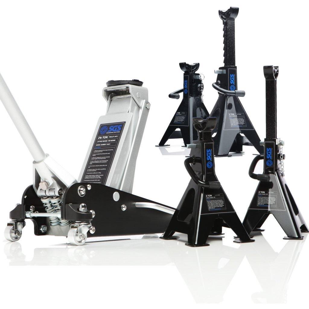 aluminium jack and axles stand