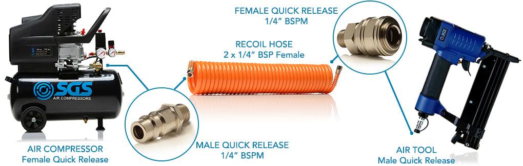 female quick release coupler