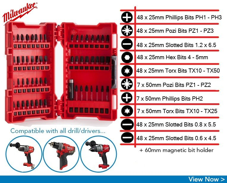milwaukee impact driver bit set