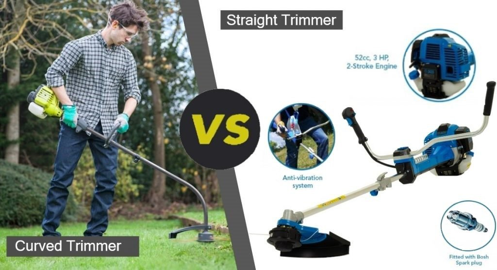 curved and straight strimmer