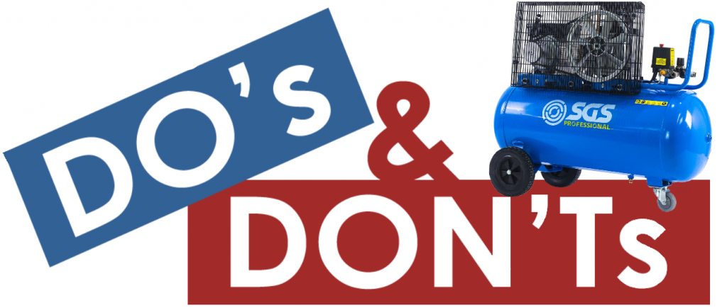 air compressor do's and don'ts
