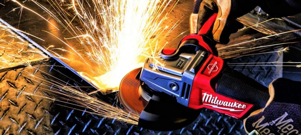 Angle grinder power tool guide