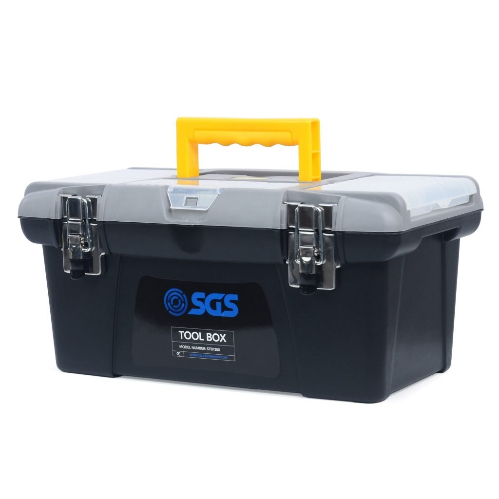 "16"" High Quality Tool Box With Storage Tray"