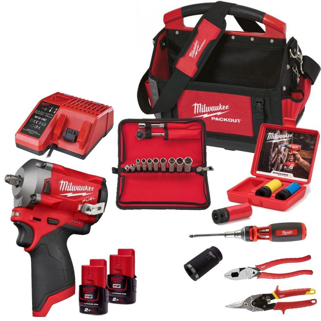 12V Milwaukee mechanics power kits