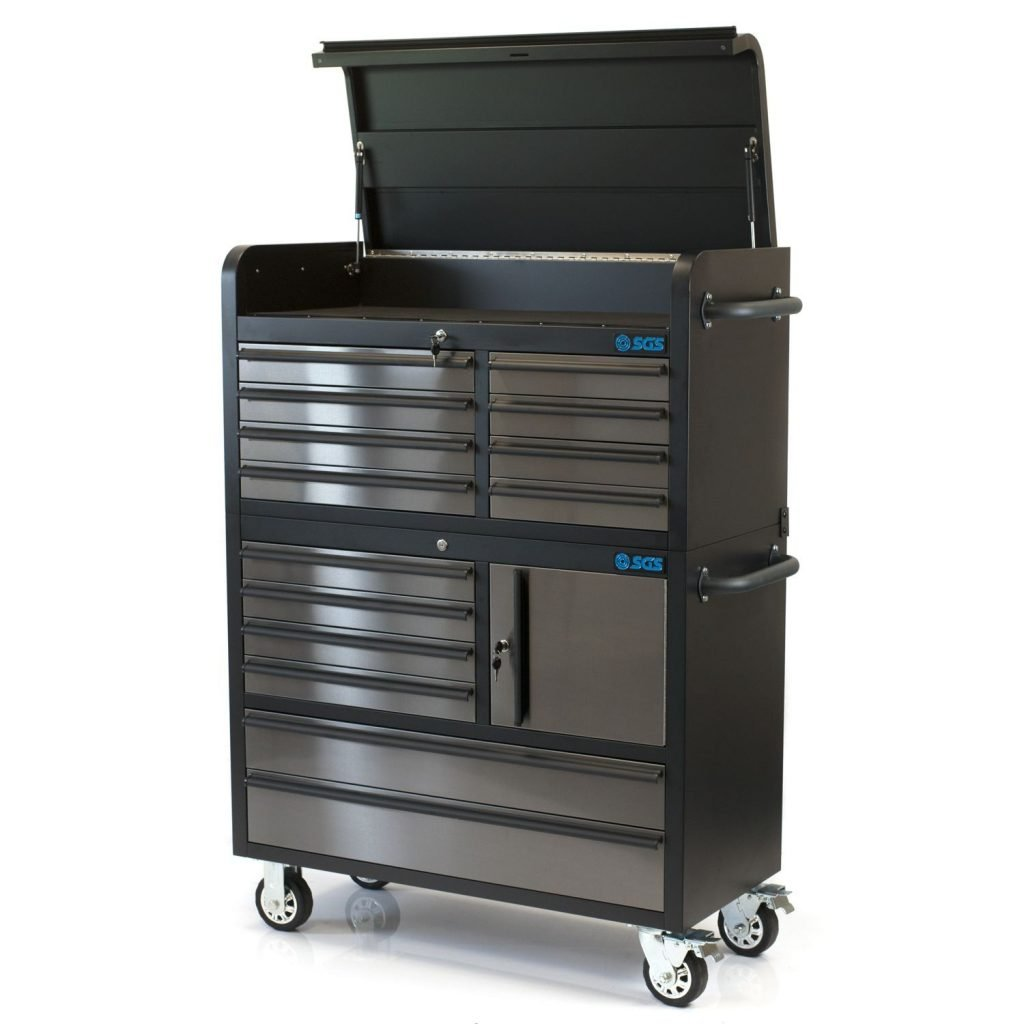 "41"" Pro 14 Drawer Stainless Steel Chest"